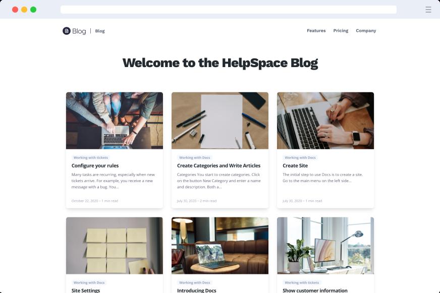 HelpSpace Docs - Blog Style
