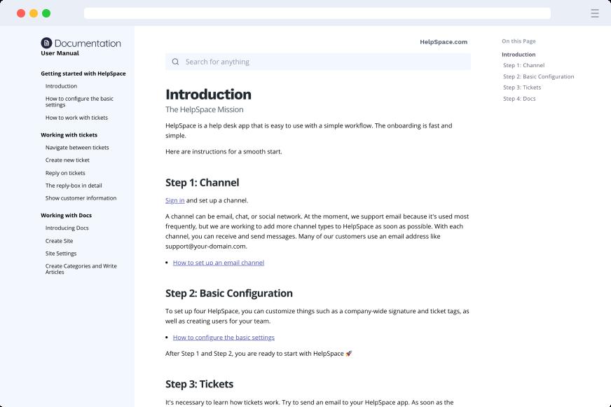 HelpSpace Docs - Documentation Style